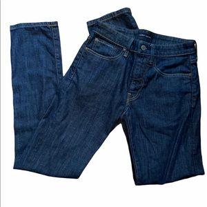 Like new Lucky Brand skinny straight 28/32 jeans.